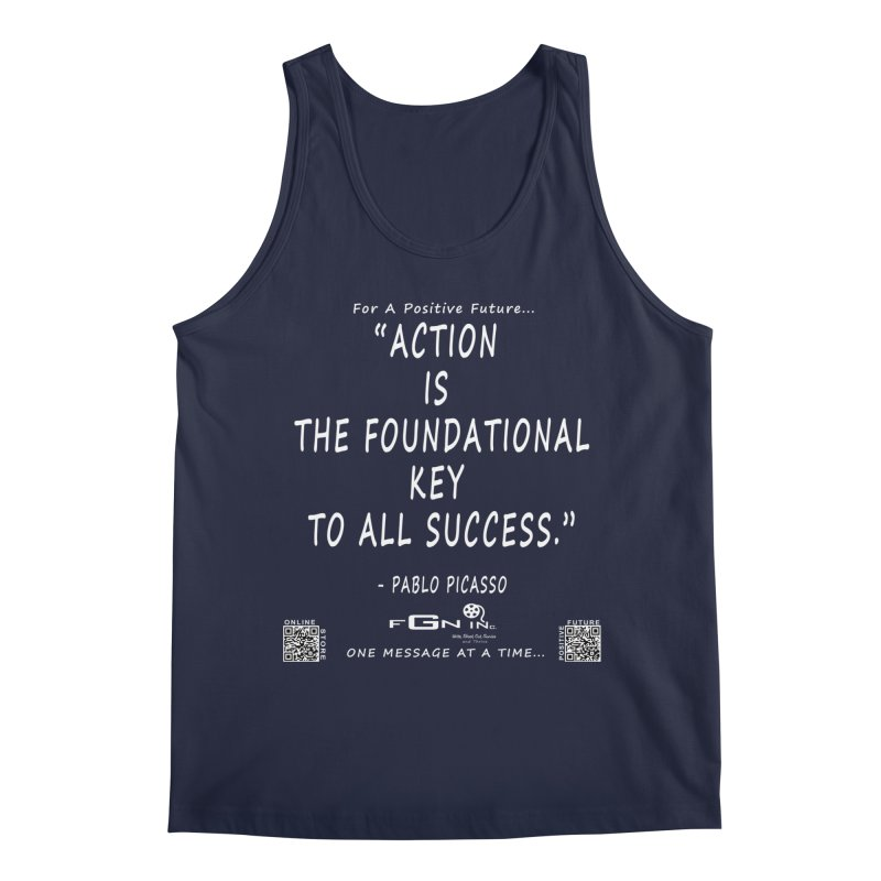 690A - Pablo Picasso Quote Men's Regular Tank by FGN Inc. Online Shop