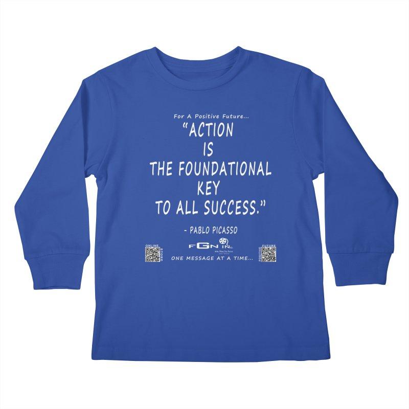 690A - Pablo Picasso Quote Kids Longsleeve T-Shirt by FGN Inc. Online Shop