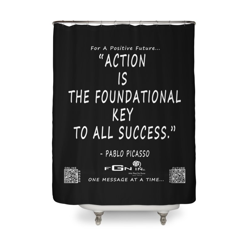 690A - Pablo Picasso Quote Home Shower Curtain by FGN Inc. Online Shop