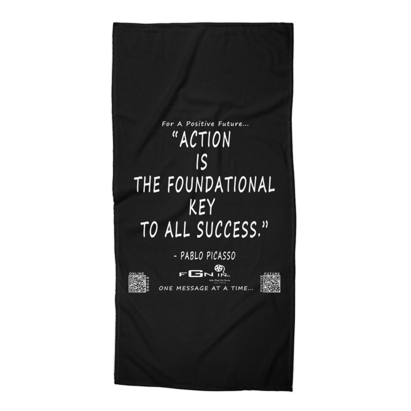 690A - Pablo Picasso Quote Accessories Beach Towel by FGN Inc. Online Shop