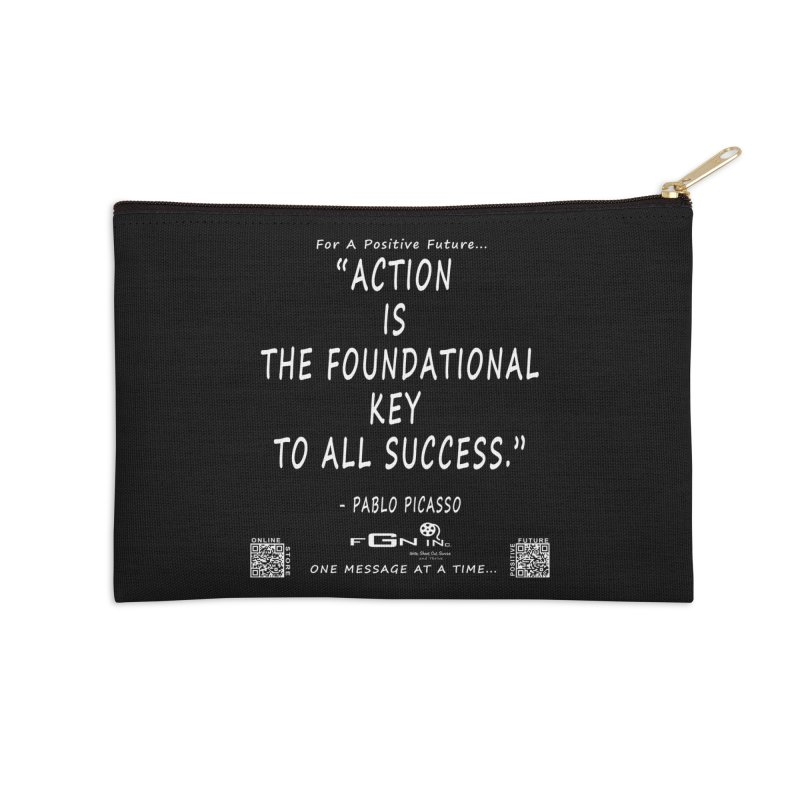 690A - Pablo Picasso Quote Accessories Zip Pouch by FGN Inc. Online Shop
