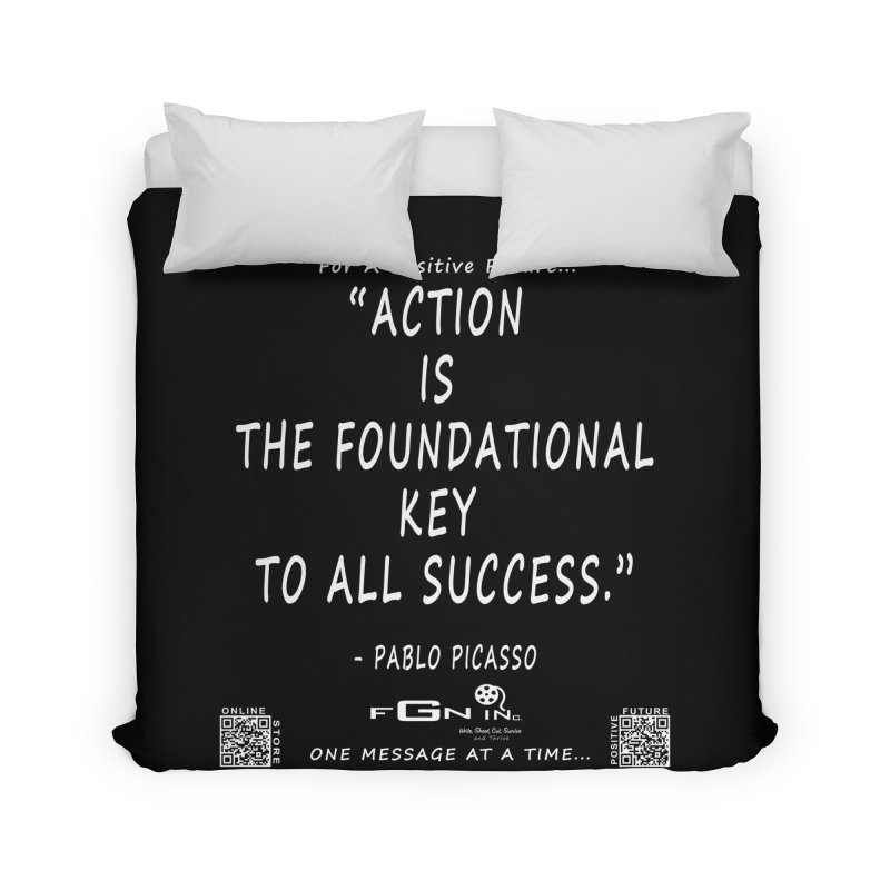 690A - Pablo Picasso Quote Home Duvet by FGN Inc. Online Shop