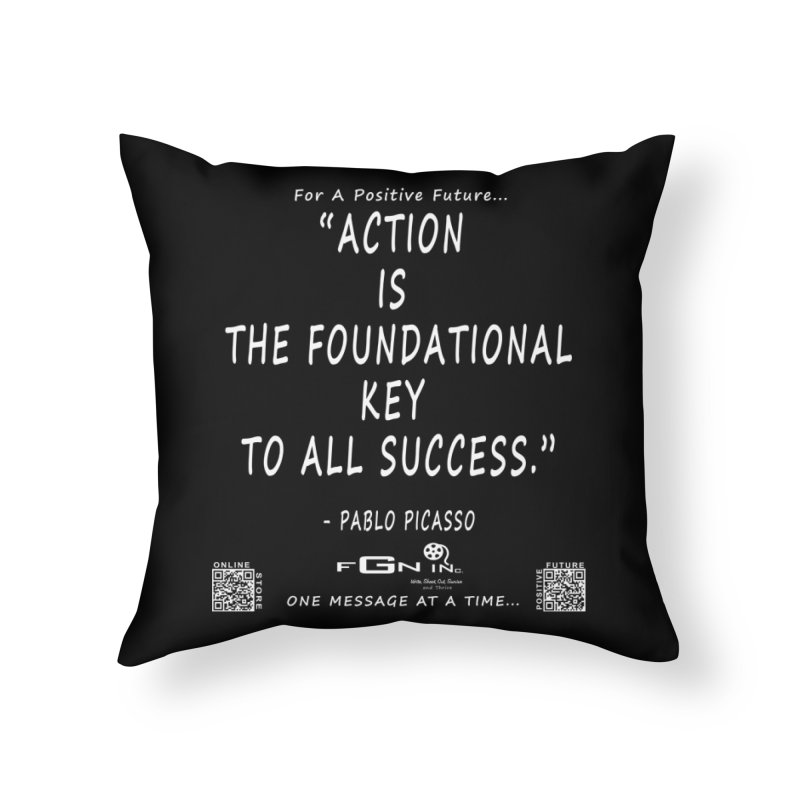 690A - Pablo Picasso Quote Home Throw Pillow by FGN Inc. Online Shop