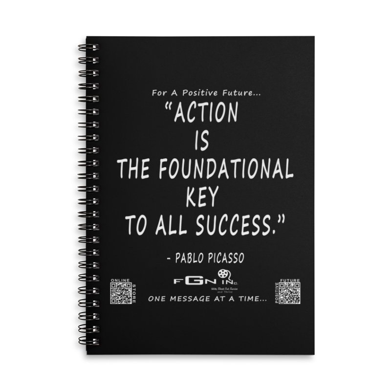 690A - Pablo Picasso Quote Accessories Lined Spiral Notebook by FGN Inc. Online Shop