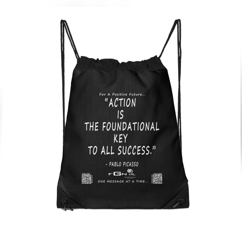 690A - Pablo Picasso Quote Accessories Drawstring Bag Bag by FGN Inc. Online Shop