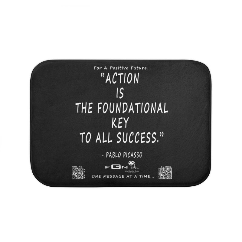 690A - Pablo Picasso Quote Home Bath Mat by FGN Inc. Online Shop