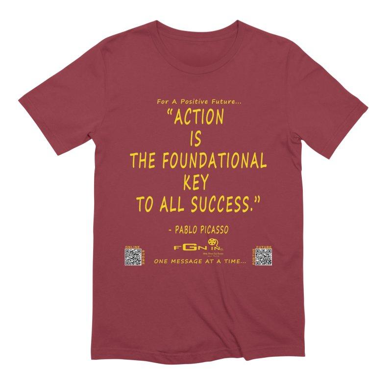 690B - Pablo Picasso Quote Men's T-Shirt by FGN Inc. Online Shop