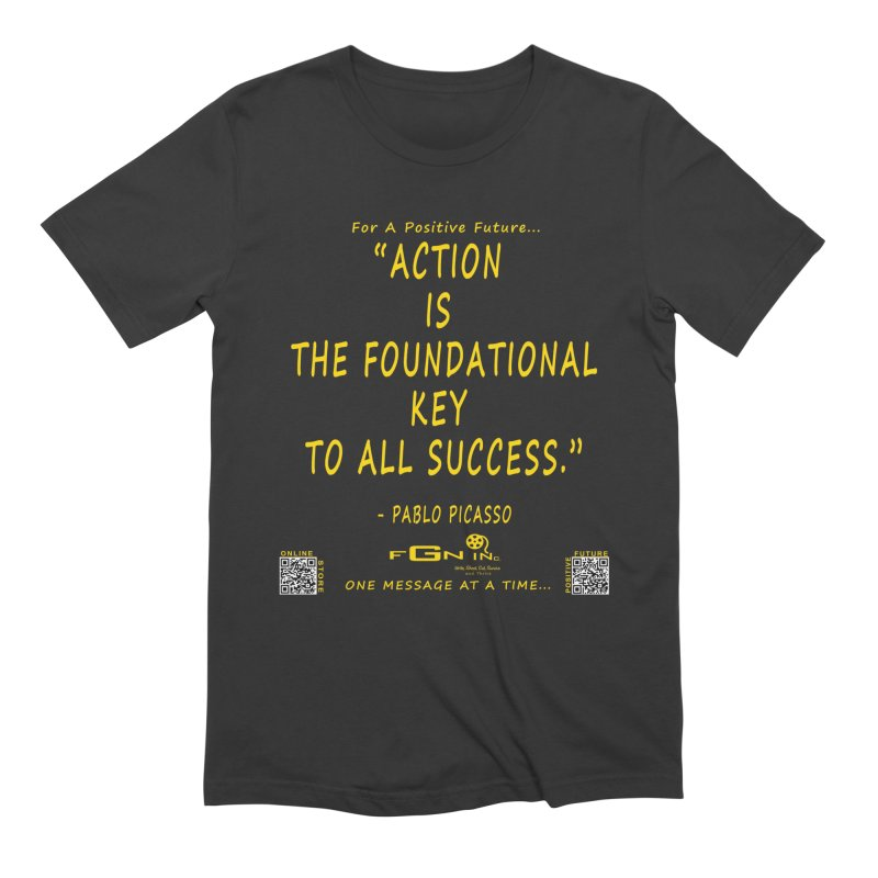 690B - Pablo Picasso Quote Men's T-Shirt by FGN Inc. Online Shop