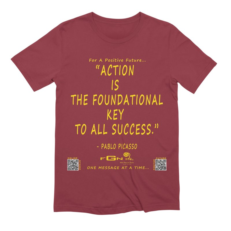 690B - Pablo Picasso Quote Men's Extra Soft T-Shirt by FGN Inc. Online Shop