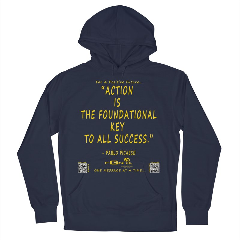 690B - Pablo Picasso Quote Men's Pullover Hoody by FGN Inc. Online Shop