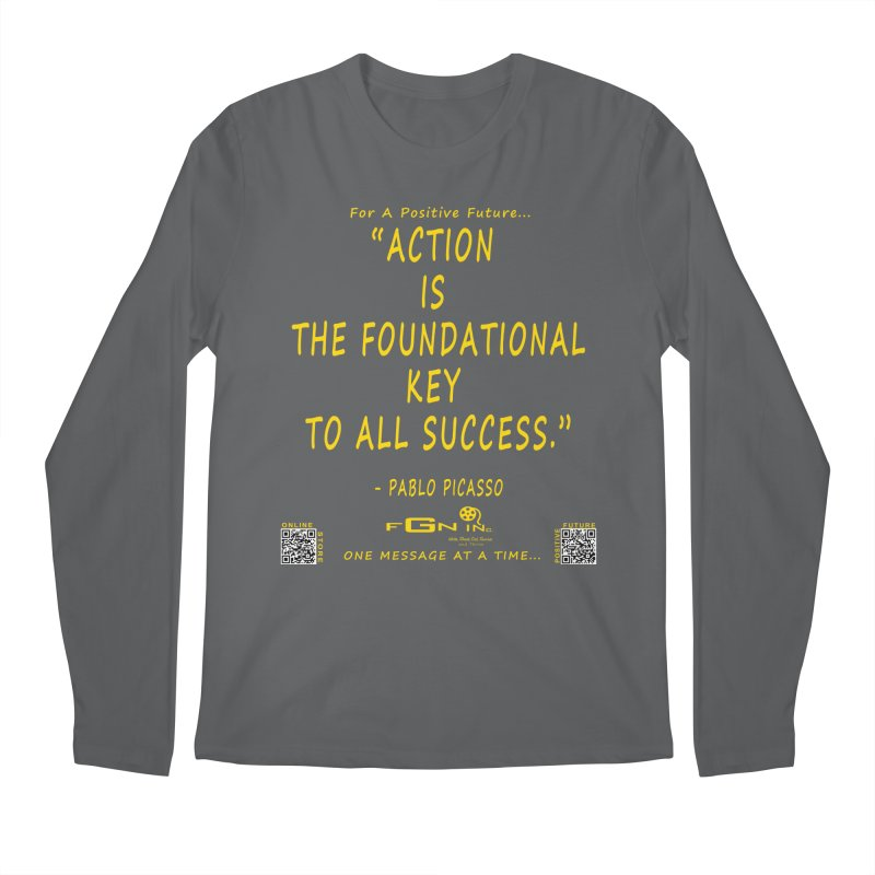 690B - Pablo Picasso Quote Men's Longsleeve T-Shirt by FGN Inc. Online Shop