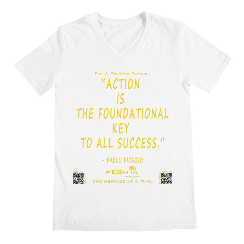 690B - Pablo Picasso Quote Men's V-Neck by FGN Inc. Online Shop