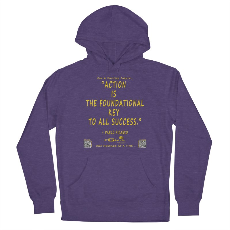 690B - Pablo Picasso Quote Men's French Terry Pullover Hoody by FGN Inc. Online Shop