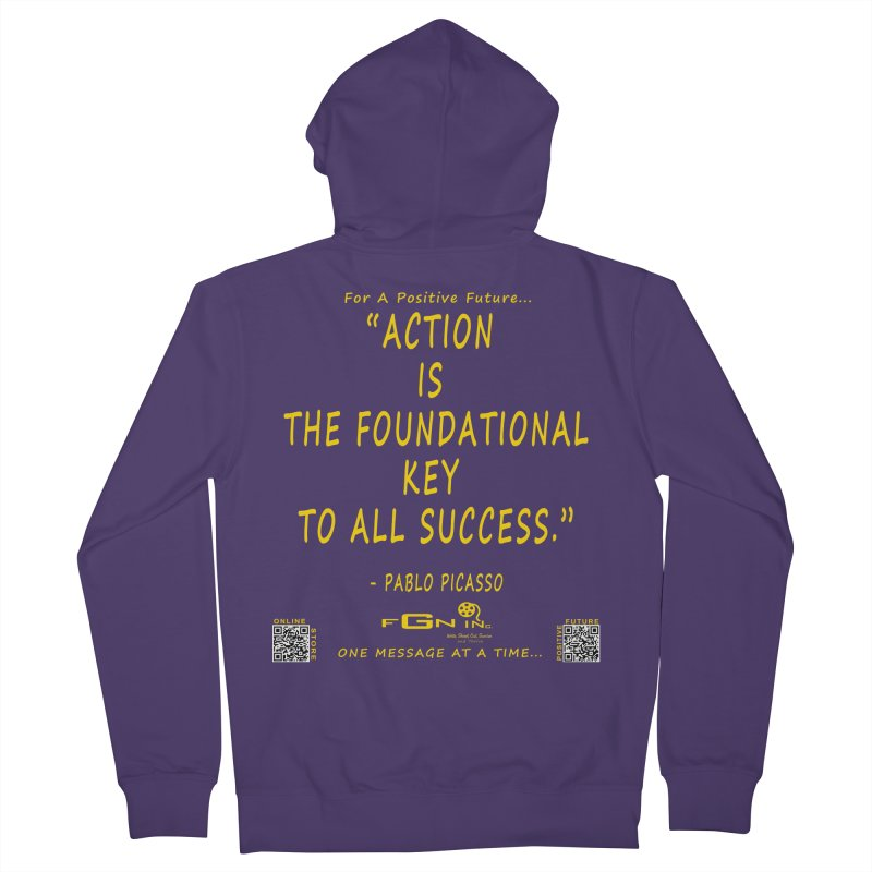 690B - Pablo Picasso Quote Women's French Terry Zip-Up Hoody by FGN Inc. Online Shop