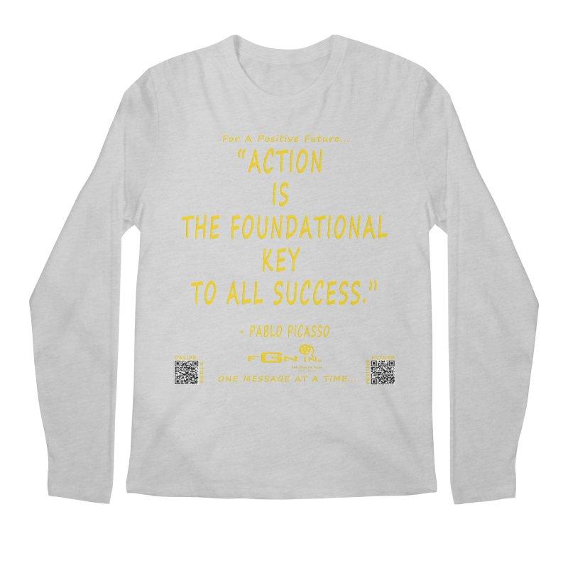 690B - Pablo Picasso Quote Men's Regular Longsleeve T-Shirt by FGN Inc. Online Shop
