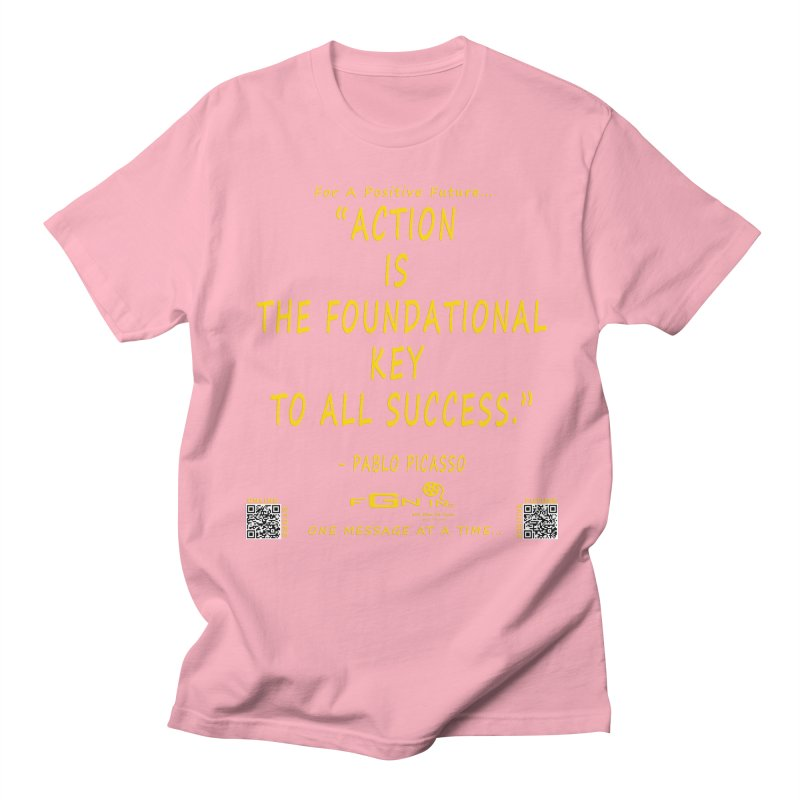 690B - Pablo Picasso Quote Women's Regular Unisex T-Shirt by FGN Inc. Online Shop