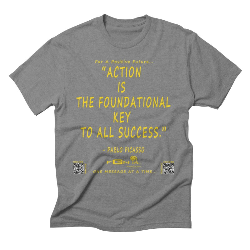 690B - Pablo Picasso Quote Men's Triblend T-Shirt by FGN Inc. Online Shop