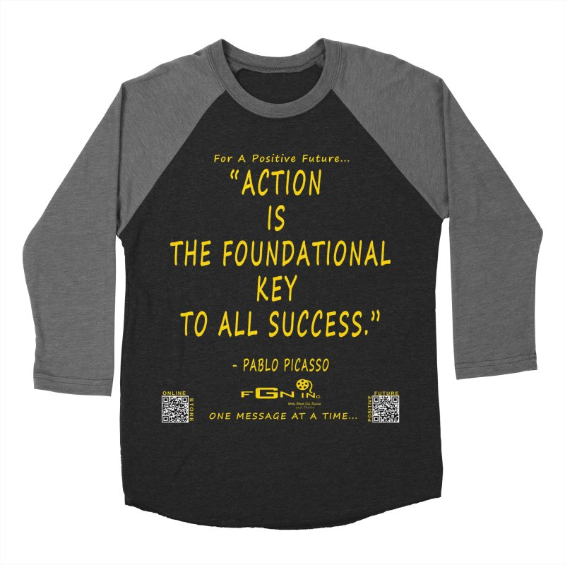 690B - Pablo Picasso Quote Women's Baseball Triblend Longsleeve T-Shirt by FGN Inc. Online Shop