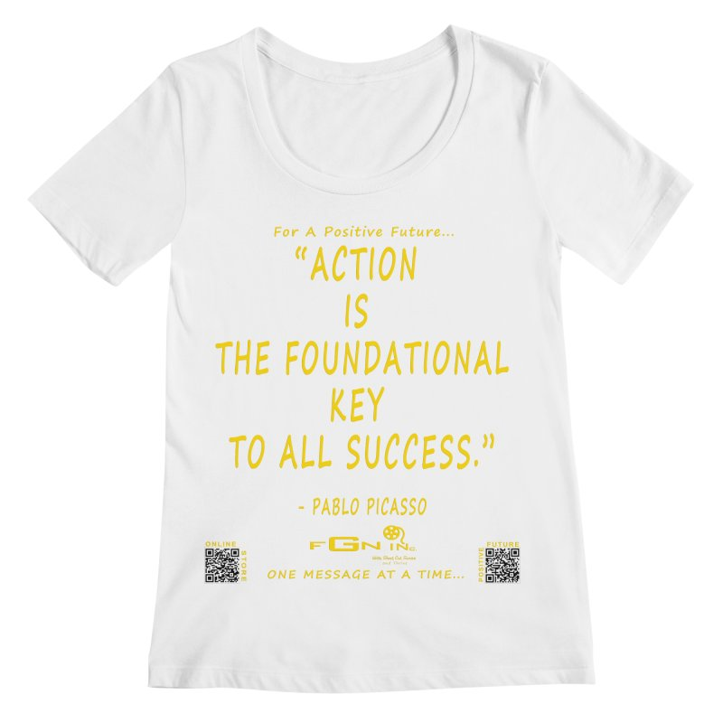 690B - Pablo Picasso Quote Women's Regular Scoop Neck by FGN Inc. Online Shop