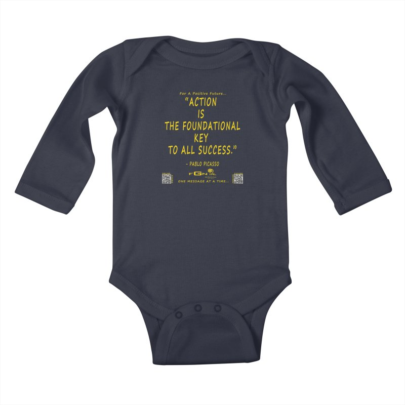 690B - Pablo Picasso Quote Kids Baby Longsleeve Bodysuit by FGN Inc. Online Shop