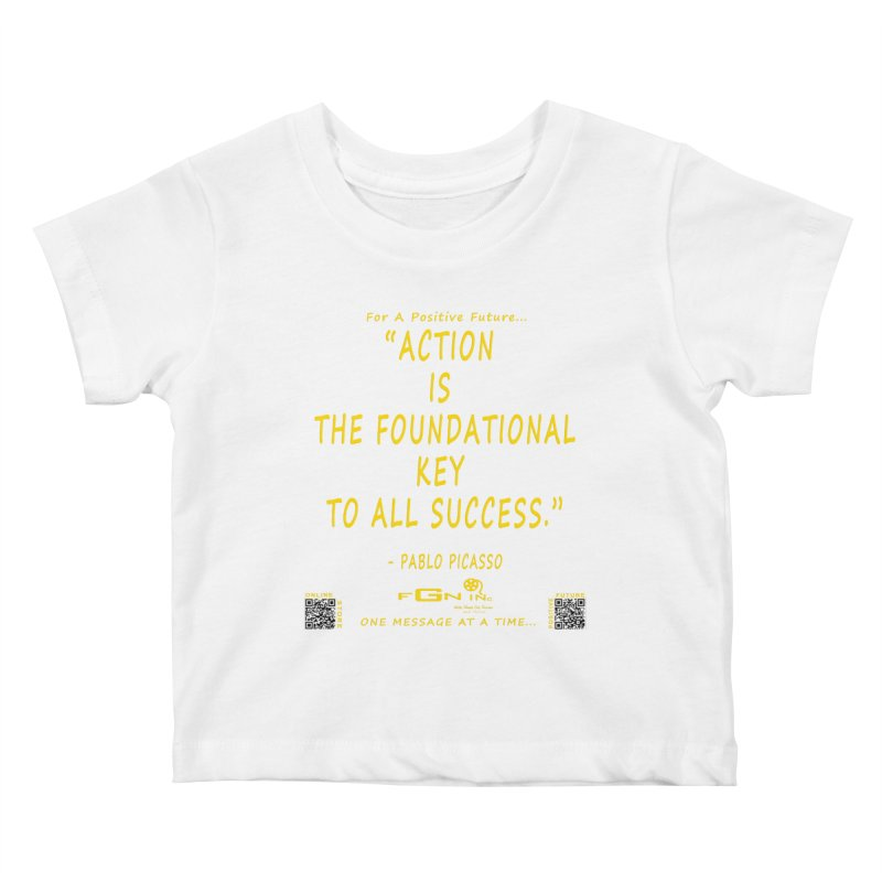 690B - Pablo Picasso Quote Kids Baby T-Shirt by FGN Inc. Online Shop