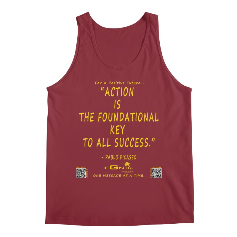 690B - Pablo Picasso Quote Men's Tank by FGN Inc. Online Shop
