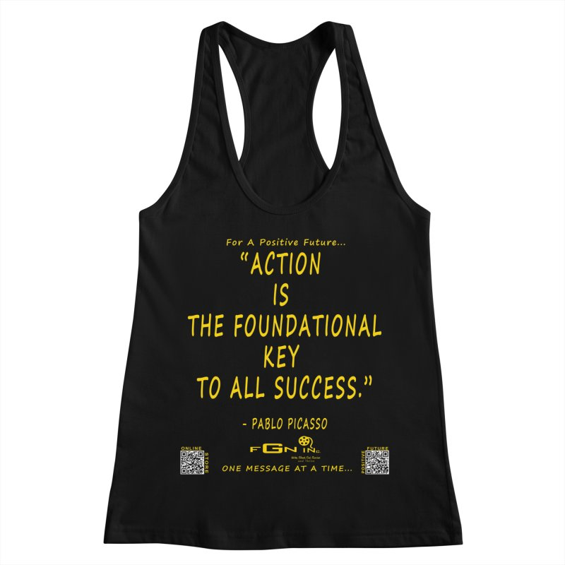 690B - Pablo Picasso Quote Women's Racerback Tank by FGN Inc. Online Shop