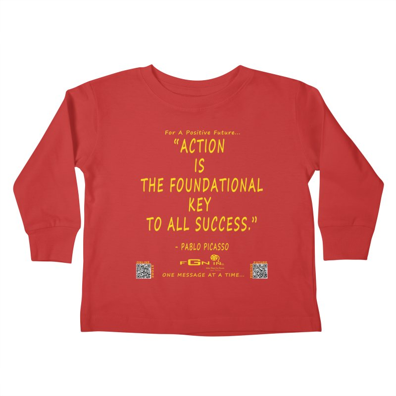 690B - Pablo Picasso Quote Kids Toddler Longsleeve T-Shirt by FGN Inc. Online Shop