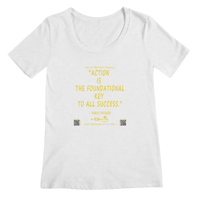 690B - Pablo Picasso Quote Women's Scoop Neck by FGN Inc. Online Shop