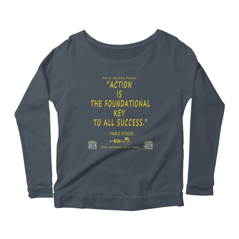 690B - Pablo Picasso Quote Women's Scoop Neck Longsleeve T-Shirt by FGN Inc. Online Shop