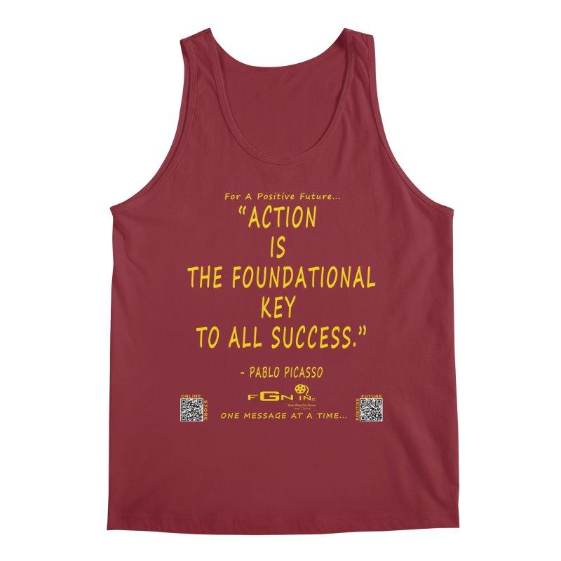 690B - Pablo Picasso Quote Men's Tank by FGN Inc. Online Shop