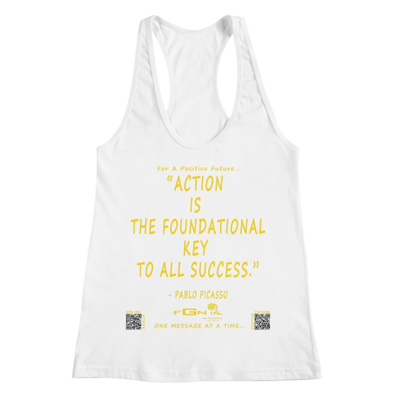 690B - Pablo Picasso Quote Women's Racerback Tank by FGN Inc. Online Shop
