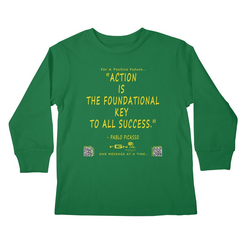 690B - Pablo Picasso Quote Kids Longsleeve T-Shirt by FGN Inc. Online Shop