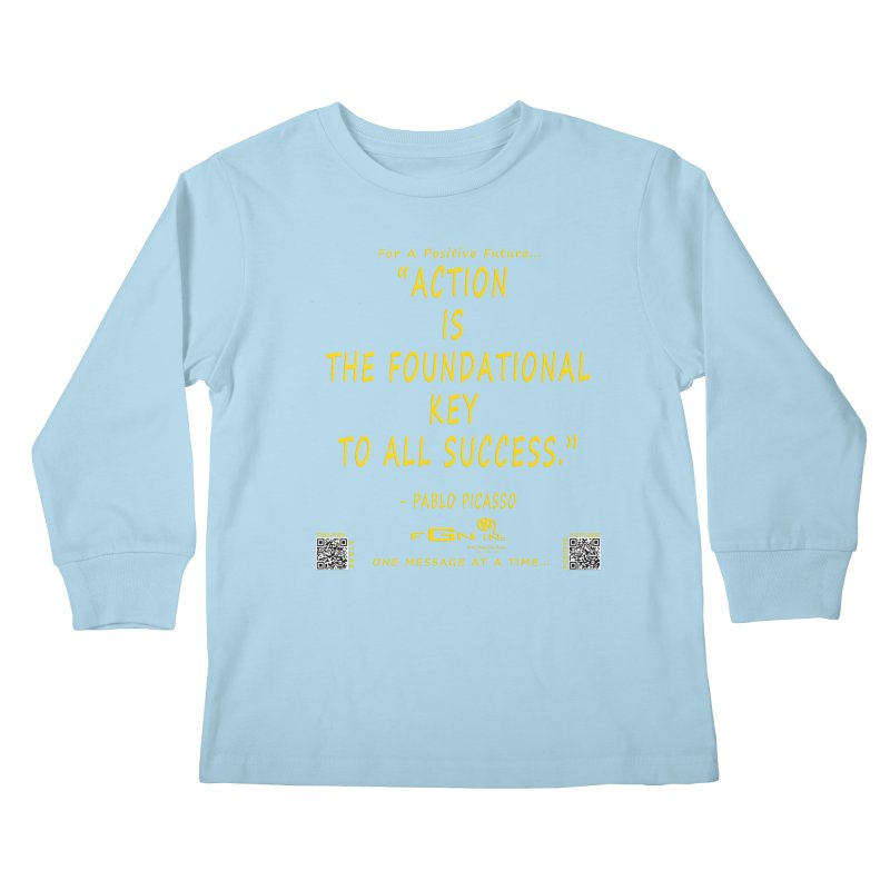 690B - Pablo Picasso Quote Kids Longsleeve T-Shirt by FGN Inc. Online Shop