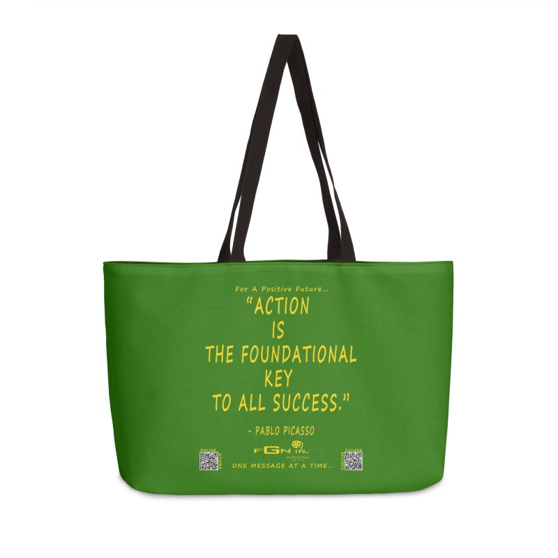 690B - Pablo Picasso Quote Accessories Weekender Bag Bag by FGN Inc. Online Shop