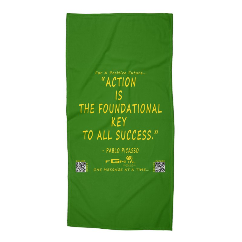 690B - Pablo Picasso Quote Accessories Beach Towel by FGN Inc. Online Shop