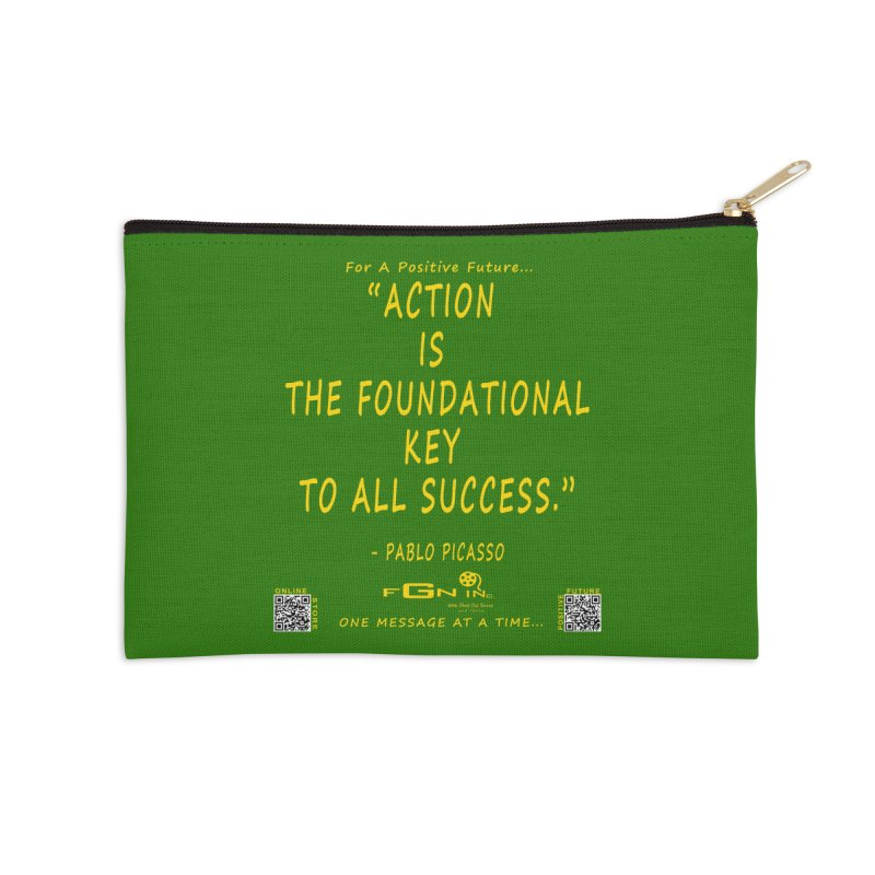 690B - Pablo Picasso Quote Accessories Zip Pouch by FGN Inc. Online Shop