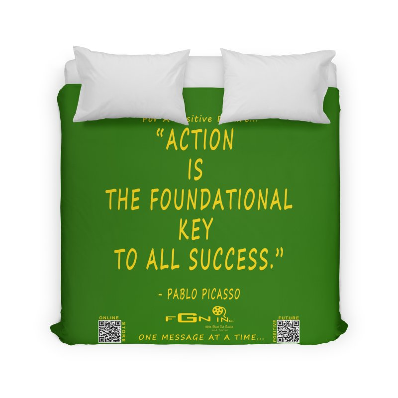 690B - Pablo Picasso Quote Home Duvet by FGN Inc. Online Shop