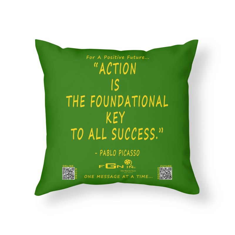 690B - Pablo Picasso Quote Home Throw Pillow by FGN Inc. Online Shop