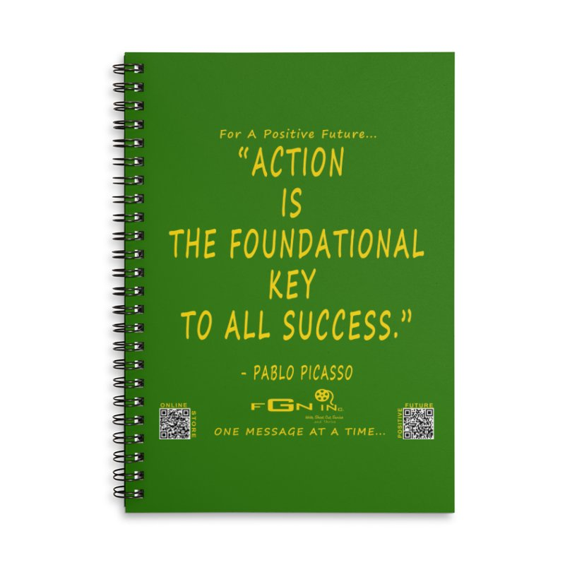 690B - Pablo Picasso Quote Accessories Lined Spiral Notebook by FGN Inc. Online Shop