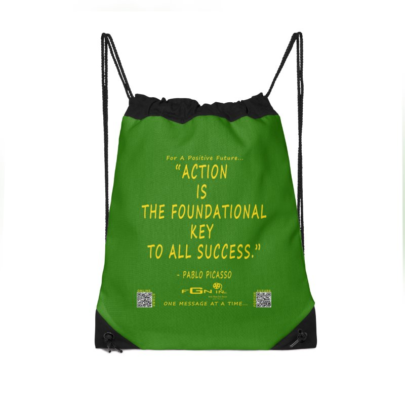 690B - Pablo Picasso Quote Accessories Drawstring Bag Bag by FGN Inc. Online Shop