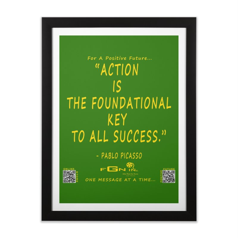 690B - Pablo Picasso Quote Home Framed Fine Art Print by FGN Inc. Online Shop
