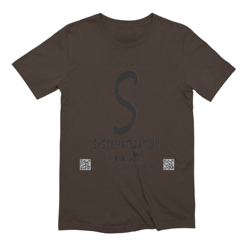 691 - S For Systematization Men's T-Shirt by FGN Inc. Online Shop