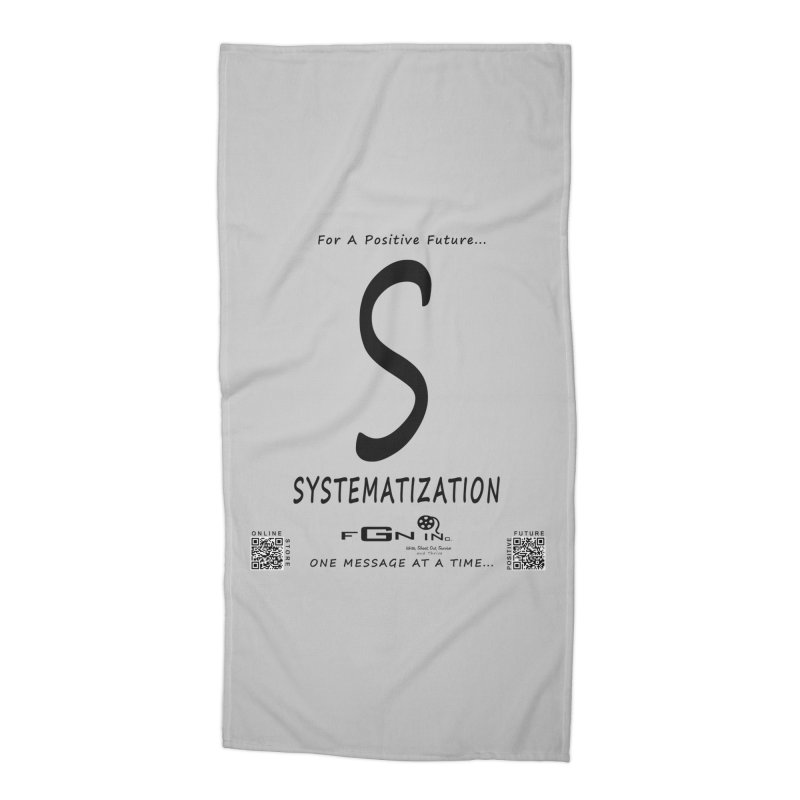 691 - S For Systematization Accessories Beach Towel by FGN Inc. Online Shop