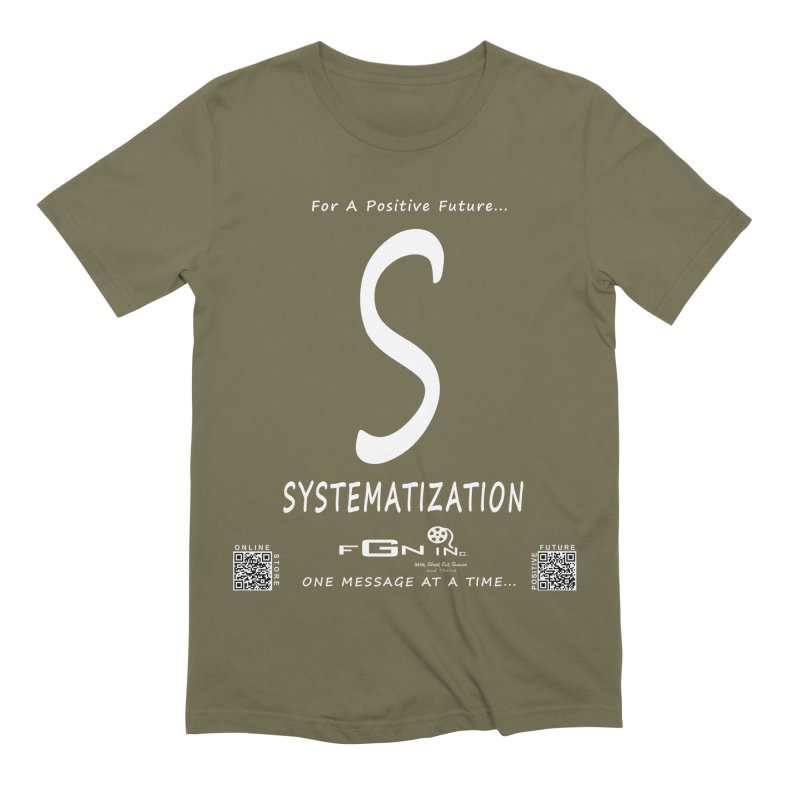 691A - S For Systematization Men's Extra Soft T-Shirt by FGN Inc. Online Shop