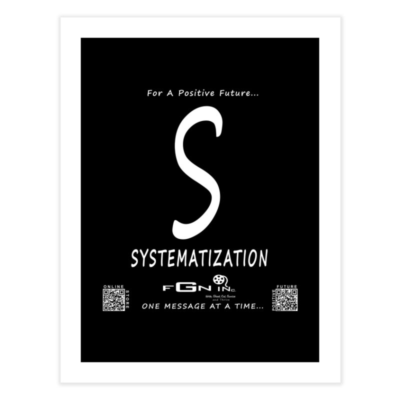 691A - S For Systematization Home Fine Art Print by FGN Inc. Online Shop