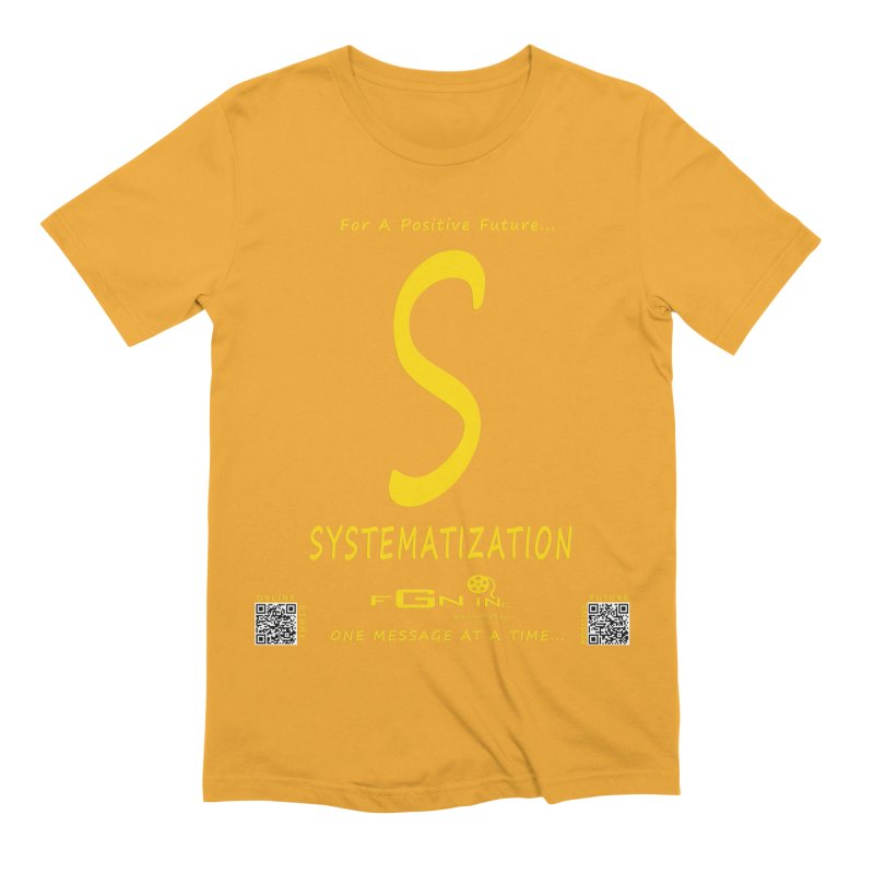 691B - S For Systematization Men's Extra Soft T-Shirt by FGN Inc. Online Shop
