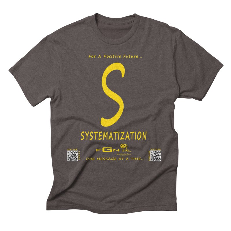 691B - S For Systematization Men's Triblend T-Shirt by FGN Inc. Online Shop