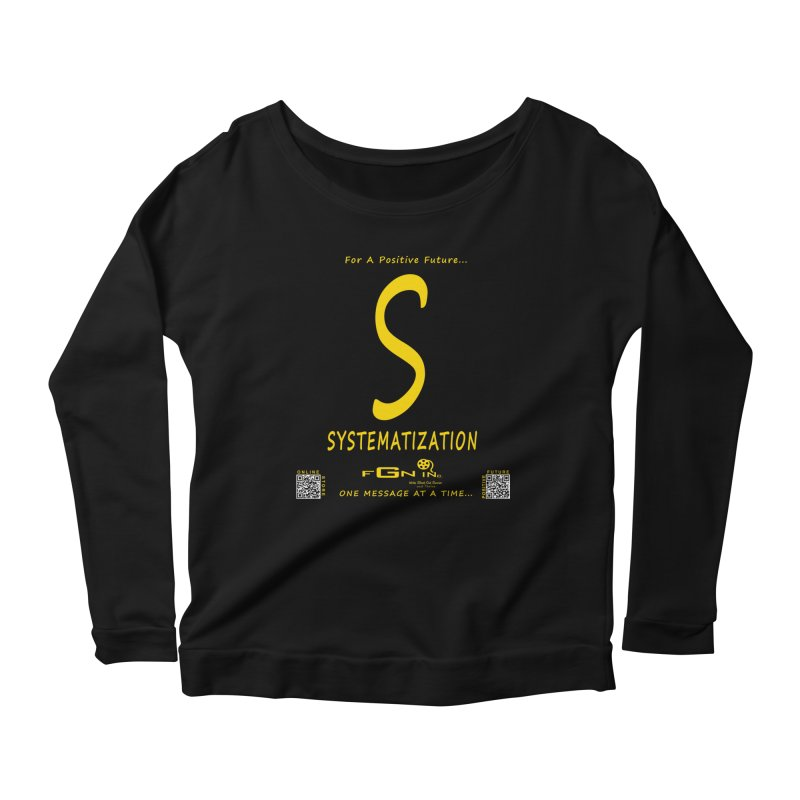 691B - S For Systematization Women's Scoop Neck Longsleeve T-Shirt by FGN Inc. Online Shop