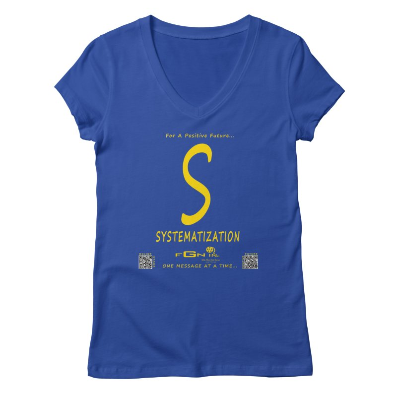 691B - S For Systematization Women's Regular V-Neck by FGN Inc. Online Shop
